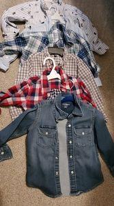 6 Toddler Boy Gap button downs Bundle